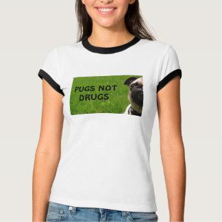 Camiseta T da campainha das drogas dos Pugs não