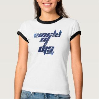 Camiseta T da campainha das mulheres de Worldofdjs