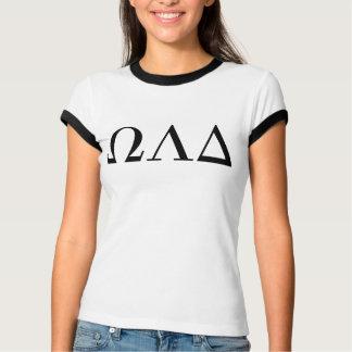 Camiseta T da campainha do delta do Omega Lambda das