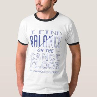 Camiseta T da campainha do equilíbrio dos homens