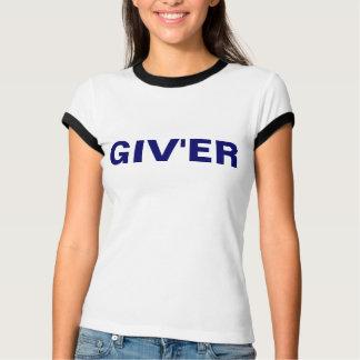 Camiseta T da campainha dos azuis bebés GIV'ER das senhoras