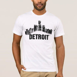 Camiseta T da cidade de Detroit