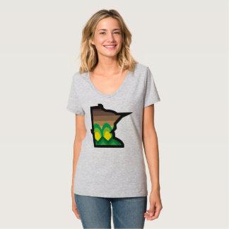 Camiseta T da colheita da queda do manganês das senhoras