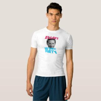 Camiseta T da compressão do partido de Ellens 80s