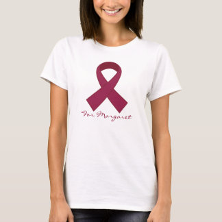 Camiseta T da consciência do mieloma múltiplo da fita de