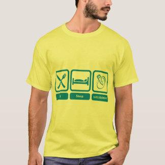 Camiseta T da cor dos homens (coma, durma, LiveJournal)