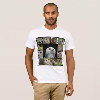 Camiseta T da coruja dos homens