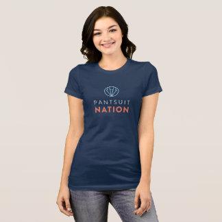 Camiseta T da Curto-Luva da nação do Pantsuit