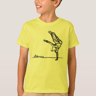 Camiseta T da dança de Hip Hop