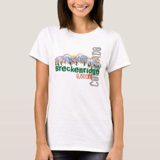 Camiseta T da elevação de Breckenridge Colorado