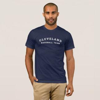Camiseta T da equipa de beisebol de Cleveland