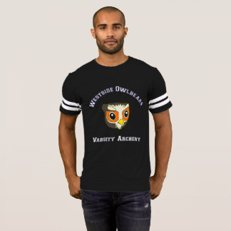 Camiseta T da equipe do tiro ao arco do time do colégio de