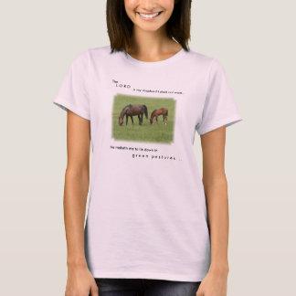 Camiseta T da escritura do amante do cavalo