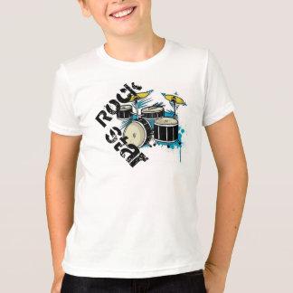 Camiseta T da estrela do rock