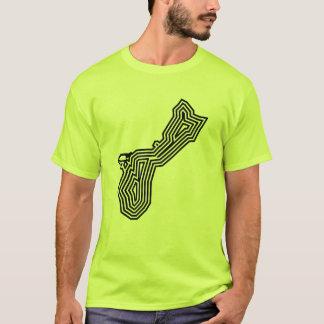 Camiseta T da explosão do preto de Guam