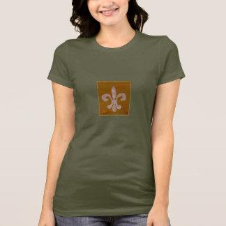 Camiseta T da flor de lis