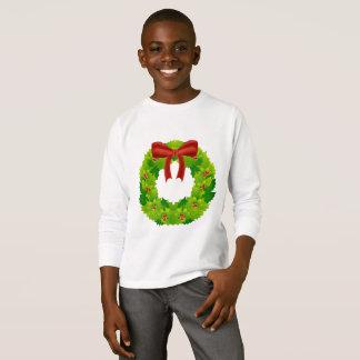 Camiseta T da grinalda do Natal dos miúdos