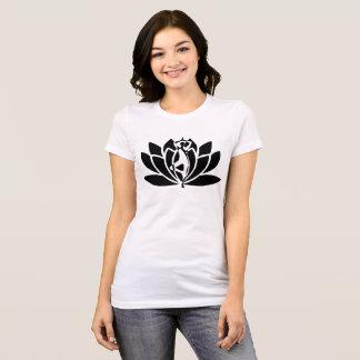 Camiseta T da ioga de Lotus