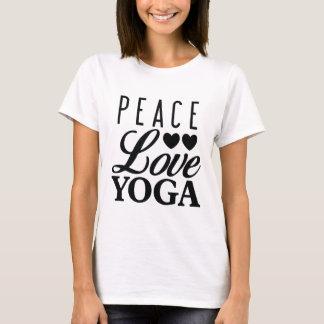 Camiseta T da ioga do amor da paz