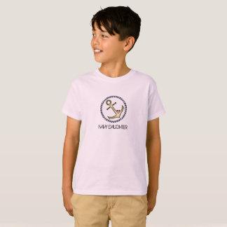 Camiseta T da juventude da filha do marinho