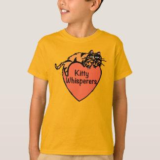 Camiseta T da laranja dos Whisperers do gatinho