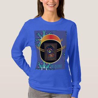 Camiseta T da Longo-Luva da rainha do floco de neve
