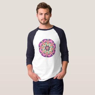 Camiseta T da luva de Raglan dos homens