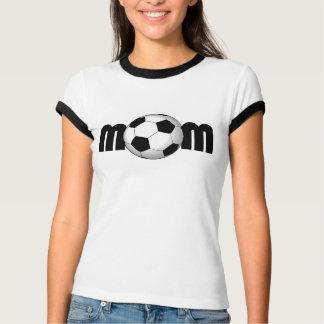 Camiseta T da mamã do futebol