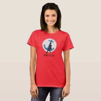 Camiseta T da mamã do marinho