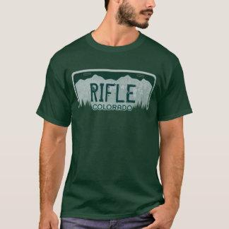 Camiseta T da matrícula das caras de Colorado do rifle
