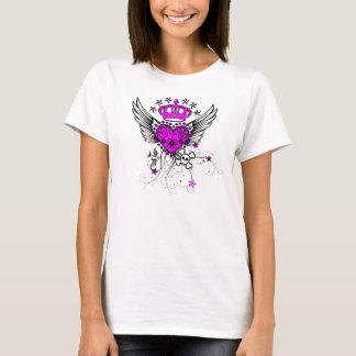 Camiseta T da menina do estilo-Rolo do tatuagem