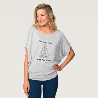 Camiseta T da mistura da ioga da paz do #Find