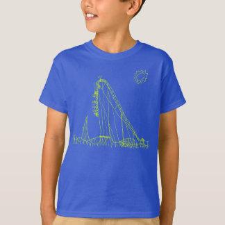 Camiseta T da montanha russa