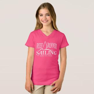 Camiseta T da navigação do corredor do recife dos miúdos -
