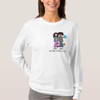 Camiseta T da nostalgia das crianças de flor do vintage