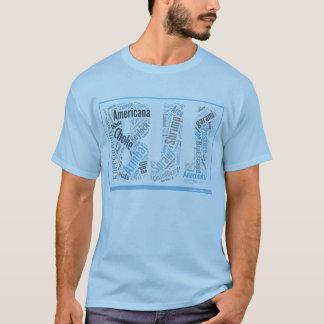 Camiseta T da nuvem da palavra de BJJ
