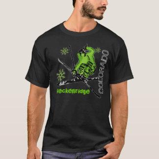 Camiseta T da obscuridade das caras do esquiador de