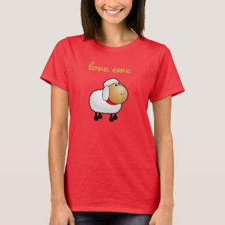 Camiseta T da ovelha do amor (você)