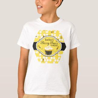 Camiseta T da padaria do cupcake da abelha do mel