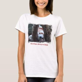 Camiseta T da panda vermelha