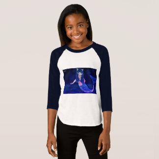 Camiseta T da parte superior do t-shirt da sereia