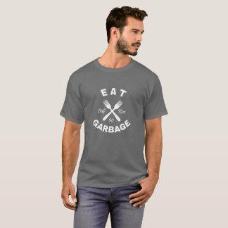Camiseta T da placa do lixo