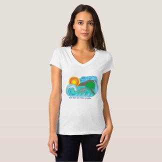 Camiseta T da praia de Los Angeles