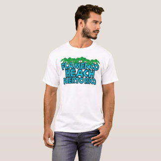 Camiseta T da praia do Flamenco