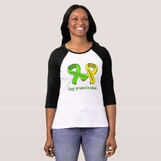 Camiseta T da prevenção da consciência e do suicídio da