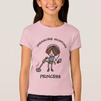 Camiseta T da princesa da caça do tesouro das meninas