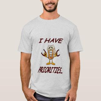 Camiseta T da prioridade das ferraduras