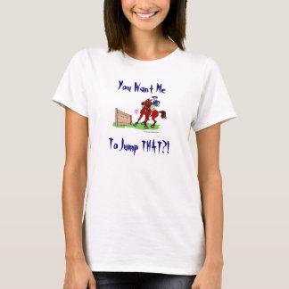 Camiseta T da recusa de salto