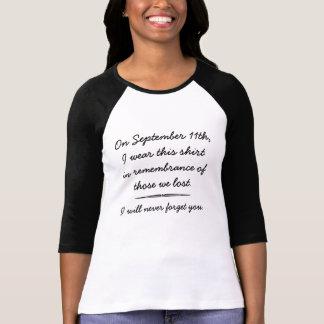 Camiseta T da relembrança do th dos 9 /11 de setembro de 11