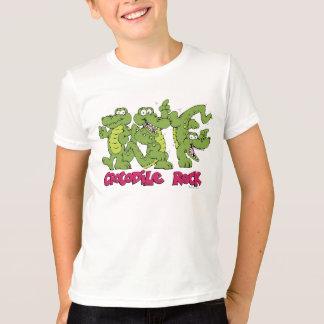 Camiseta T da rocha do crocodilo